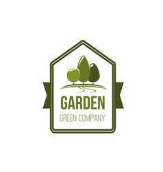 garden green tree eco landscape park icon vector image