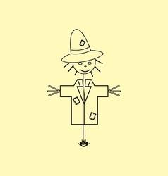 Garden Scarecrow Icon vector image