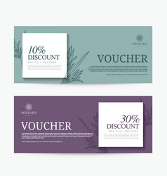 Gift voucher template for spa hotel resort vector