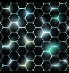 grid of honeycomb vector image