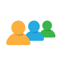 group of people icon teamwork or crowd vector image