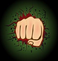 Hand punch design vector