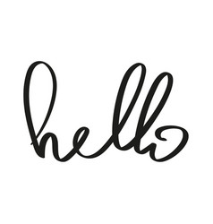handwriting word hello vector image