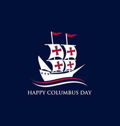 happy columbus day national usa holiday vector image
