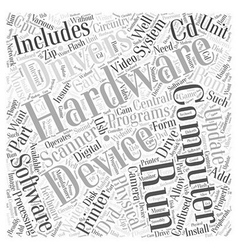Hardware Word Cloud Concept vector