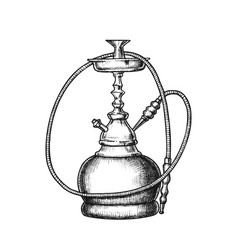 hookah lounge cafe relax equipment retro vector image