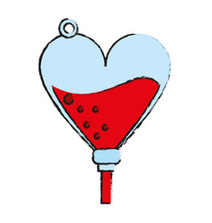 Iv bag blood donation related icon image vector