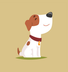 Jack russell puppy character side view cute funny vector