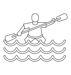 Kayak slalom icon simple style vector image