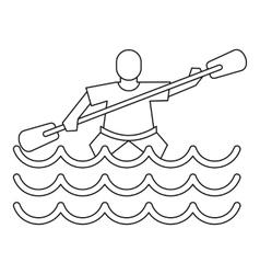 Kayak slalom icon simple style vector