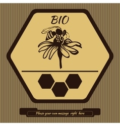 Logo for advertising honey 3 vector image
