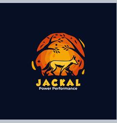 logo jackal mascot cartoon style vector image
