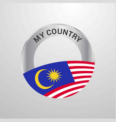 malaysia my country flag badge vector image