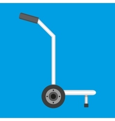 Metallic hand truck vector
