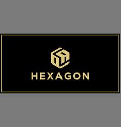 oa hexagon logo design inspiration vector image