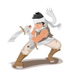 persian warrior man character pose vector image