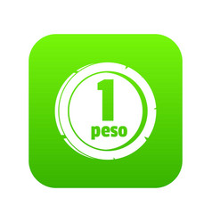 Peso icon green vector