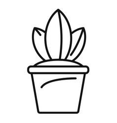 pot plant icon outline style vector image