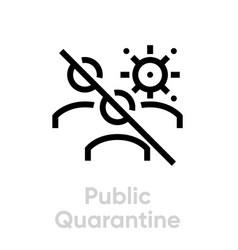 public quarantine icon editable line group vector image