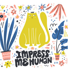 queen cat color flat hand drawn vector image