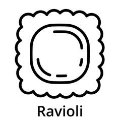 Ravioli icon outline style vector