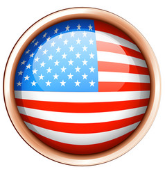 round badge design for flag of america vector image