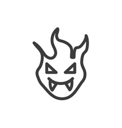 Silhouette vampire with fangs in white vector