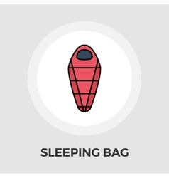 Sleeping bag flat icon vector