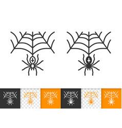 Spiderweb simple black line halloween icon vector