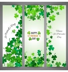St Patricks Day banner set vector image