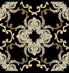 Stippled grunge seamless pattern ornamental vector