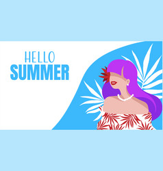 summer holiday banner design vector image