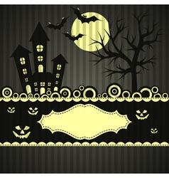 Template Halloween greeting card vector