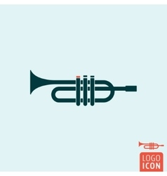 Trumpet icon isolated vector image