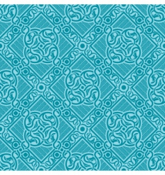 turquoise seamless ornament vector image