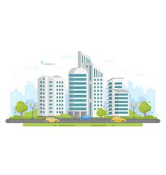 Urban landscape - modern colorful flat vector