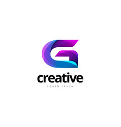 Vibrant trendy colorful creative letter g logo vector
