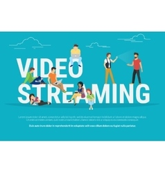Video streaming concept vector image