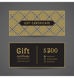Vintage Gift Certificate vector image