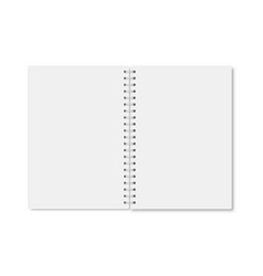 white realistic a5 notebook opened with shadows vector image