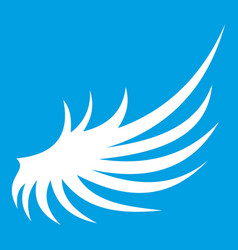 Wing icon white vector