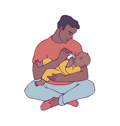 young african father vector image