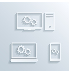 computers icons vector image vector image