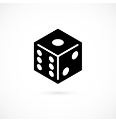 Dice icon isolated on white background vector