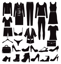 Different set of woman clothes and accessories vector image vector image