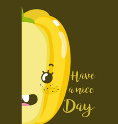 have a nice day card with vegetable cartoon vector image