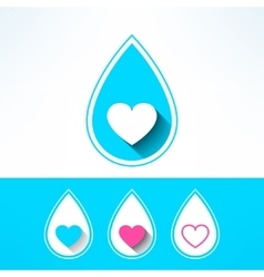 water drop made in modern flat design vector image vector image
