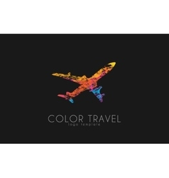 Airplane logo travel logo design Plane logo vector image vector image