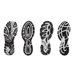 footprint sport shoes 3 vector image vector image