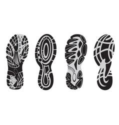 footprint sport shoes 3 vector image